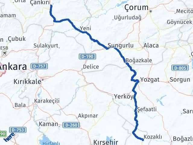 Çankırı Kozaklı Nevşehir Arası Kaç Km? - Kmhesaplama.com Arası Kaç Km Saat? Nerede Yol Haritası Yakıt, Rota ve Mesafe Hesaplama