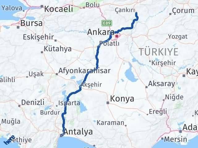 Çankırı Muratpaşa Antalya Arası Kaç Km? - Kmhesaplama.com Arası Kaç Km Saat? Nerede Yol Haritası Yakıt, Rota ve Mesafe Hesaplama