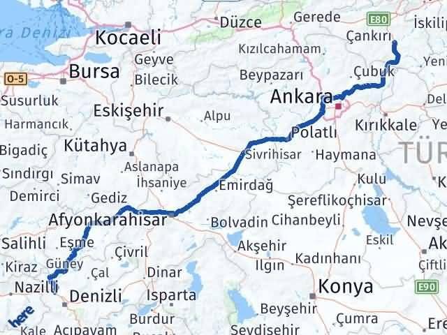Çankırı Sarayköy Denizli Arası Kaç Km? - Kmhesaplama.com Arası Kaç Km Saat? Nerede Yol Haritası Yakıt, Rota ve Mesafe Hesaplama