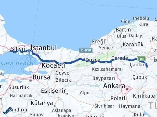 Çankırı Silivri İstanbul Arası Kaç Km? - Kmhesaplama.com Arası Kaç Km Saat? Nerede Yol Haritası Yakıt, Rota ve Mesafe Hesaplama