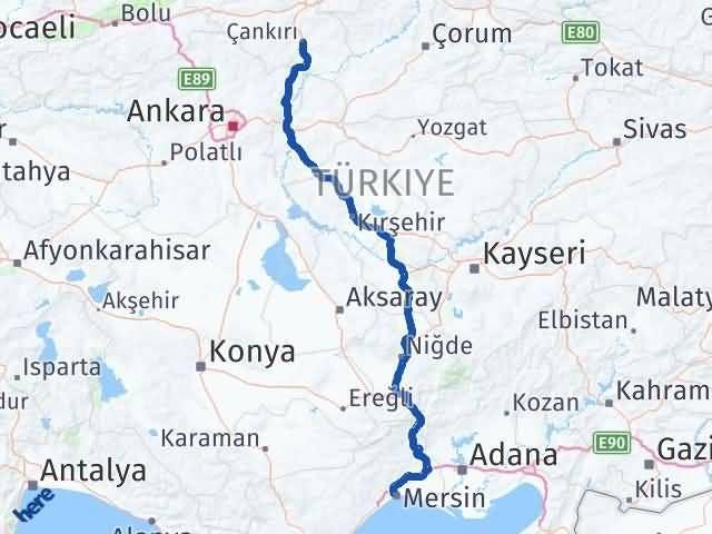 Çankırı Yenişehir Mersin Arası Kaç Km? - Kmhesaplama.com Arası Kaç Km Saat? Nerede Yol Haritası Yakıt, Rota ve Mesafe Hesaplama