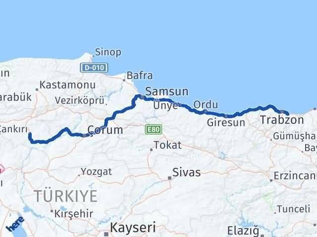 Çankırı Yomra Trabzon Arası Kaç Km? - Kmhesaplama.com Arası Kaç Km Saat? Nerede Yol Haritası Yakıt, Rota ve Mesafe Hesaplama