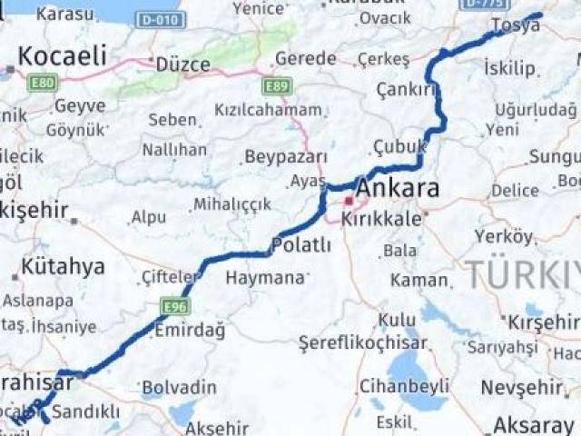 Çorum Kargı Afyon Arası Kaç Km? Arası Kaç Km Saat? Nerede Yol Haritası Yakıt, Rota ve Mesafe Hesaplama