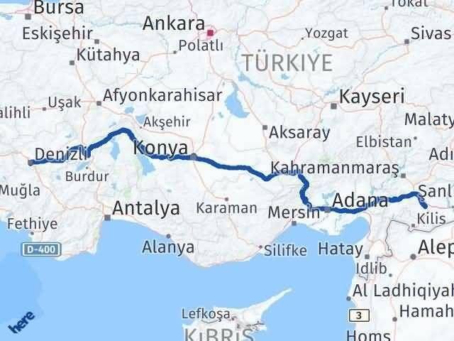 Denizli Gaziantep Arası Kaç Km - Kaç Saat? Arası Kaç Km Saat? Nerede Yol Haritası Yakıt, Rota ve Mesafe Hesaplama