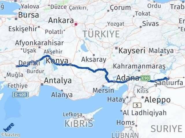 Denizli Şanlıurfa Arası Kaç Km - Kaç Saat? Arası Kaç Km Saat? Nerede Yol Haritası Yakıt, Rota ve Mesafe Hesaplama