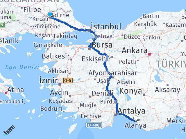 Edirne Alanya Antalya Arası Kaç Km? - Kmhesaplama.com Arası Kaç Km Saat? Nerede Yol Haritası Yakıt, Rota ve Mesafe Hesaplama