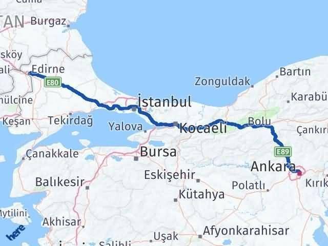 Edirne Çankaya Ankara Arası Kaç Km? - Kmhesaplama.com Arası Kaç Km Saat? Nerede Yol Haritası Yakıt, Rota ve Mesafe Hesaplama