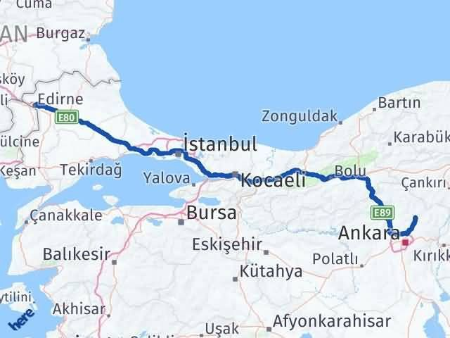 Edirne Çubuk Ankara Arası Kaç Km? - Kmhesaplama.com Arası Kaç Km Saat? Nerede Yol Haritası Yakıt, Rota ve Mesafe Hesaplama