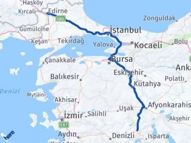 Edirne Dinar Afyon Arası Kaç Km? - Kmhesaplama.com Arası Kaç Km Saat? Nerede Yol Haritası Yakıt, Rota ve Mesafe Hesaplama