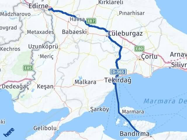 Edirne Erdek Balıkesir Arası Kaç Km? - Kmhesaplama.com Arası Kaç Km Saat? Nerede Yol Haritası Yakıt, Rota ve Mesafe Hesaplama