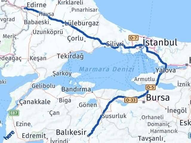 Edirne Karesi Balıkesir Arası Kaç Km? - Kmhesaplama.com Arası Kaç Km Saat? Nerede Yol Haritası Yakıt, Rota ve Mesafe Hesaplama