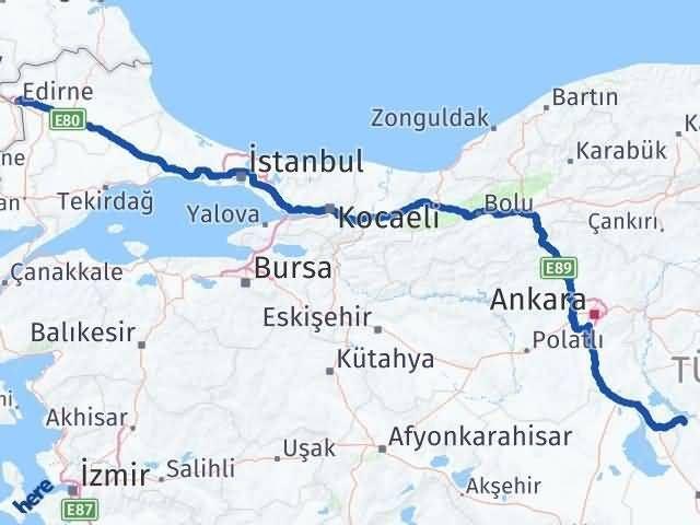 Edirne Sarıyahşi Aksaray Arası Kaç Km? - Kmhesaplama.com Arası Kaç Km Saat? Nerede Yol Haritası Yakıt, Rota ve Mesafe Hesaplama