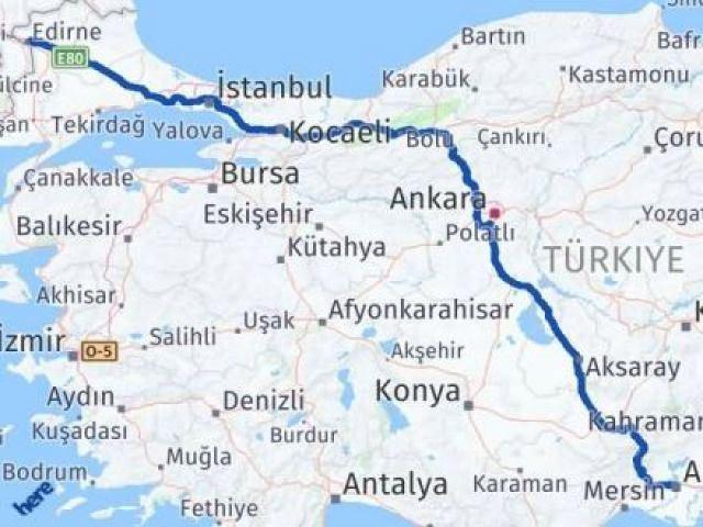 Edirne Seyhan Adana Arası Kaç Km? - Kmhesaplama.com Arası Kaç Km Saat? Nerede Yol Haritası Yakıt, Rota ve Mesafe Hesaplama