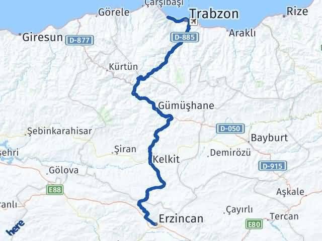 Erzincan Akçaabat Trabzon Arası Kaç Km? - Kmhesaplama.com Arası Kaç Km Saat? Nerede Yol Haritası Yakıt, Rota ve Mesafe Hesaplama