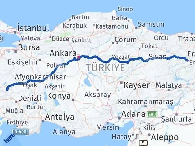 Erzincan Alaşehir Arası Kaç Km? Arası Kaç Km Saat? Nerede Yol Haritası Yakıt, Rota ve Mesafe Hesaplama