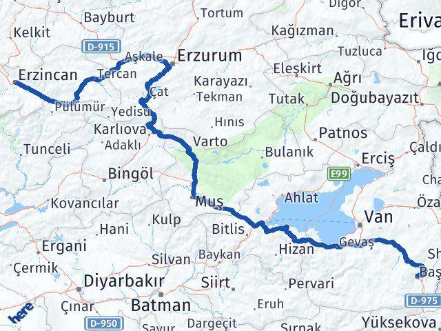 Erzincan Başkale Van Arası Kaç Km? - Kmhesaplama.com Arası Kaç Km Saat? Nerede Yol Haritası Yakıt, Rota ve Mesafe Hesaplama
