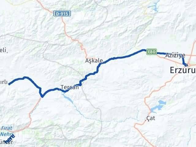 Erzincan Çayırlı Erzurum Arası Kaç Km? Arası Kaç Km Saat? Nerede Yol Haritası Yakıt, Rota ve Mesafe Hesaplama