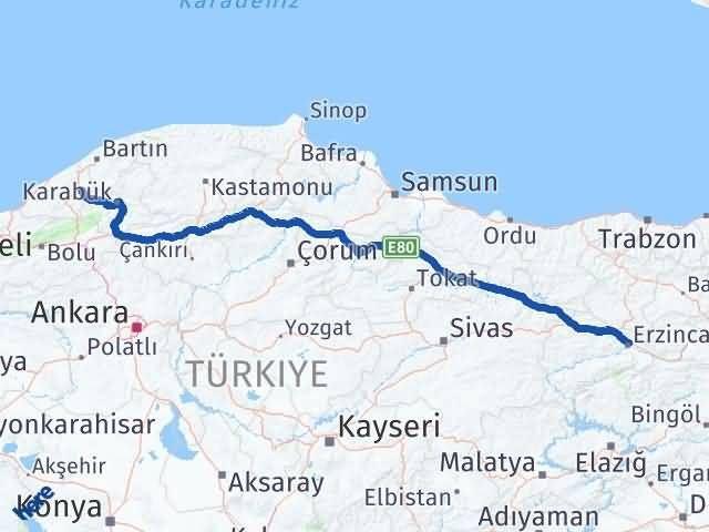 Erzincan Gökçebey Zonguldak Arası Kaç Km? - Kmhesaplama.com Arası Kaç Km Saat? Nerede Yol Haritası Yakıt, Rota ve Mesafe Hesaplama