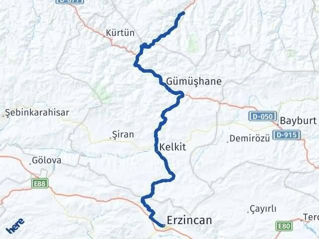 Erzincan Maçka Trabzon Arası Kaç Km? - Kmhesaplama.com Arası Kaç Km Saat? Nerede Yol Haritası Yakıt, Rota ve Mesafe Hesaplama