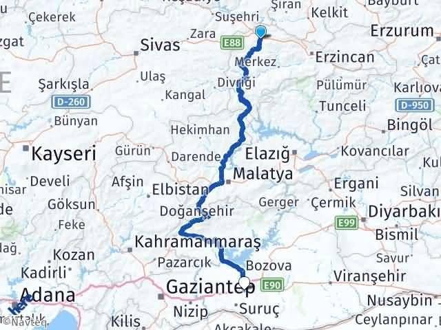 Erzincan Refahiye Göbekli Karaköprü Arası Kaç Km? Arası Kaç Km Saat? Nerede Yol Haritası Yakıt, Rota ve Mesafe Hesaplama