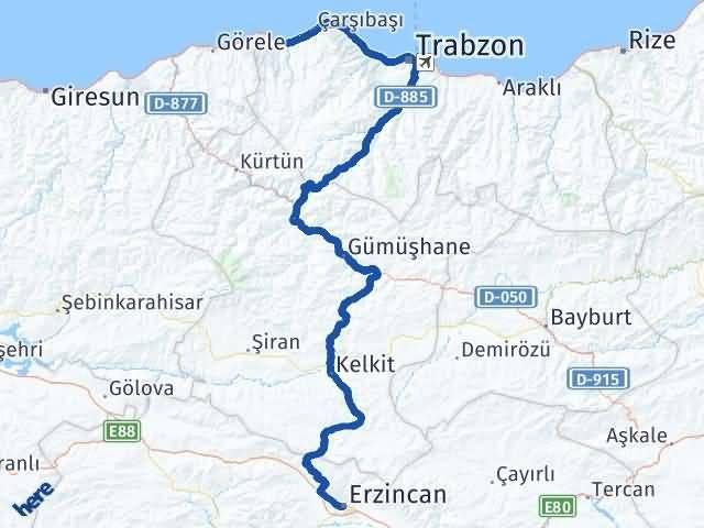 Erzincan Vakfıkebir Trabzon Arası Kaç Km? - Kmhesaplama.com Arası Kaç Km Saat? Nerede Yol Haritası Yakıt, Rota ve Mesafe Hesaplama