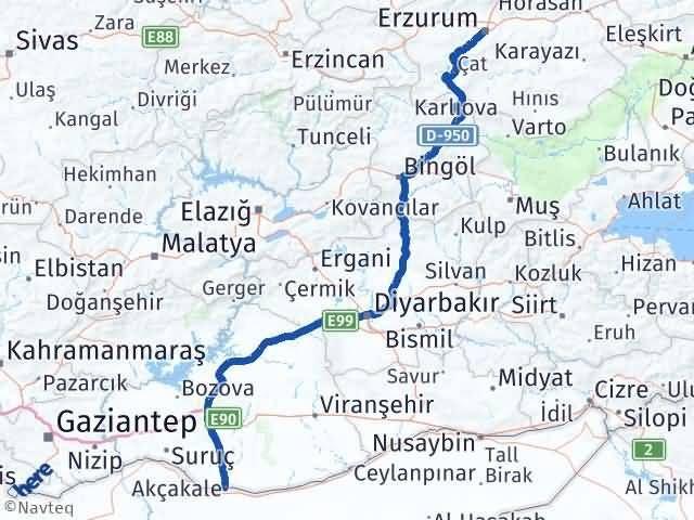 Erzurum Akçakale Şanlıurfa Arası Kaç Km? - Kmhesaplama.com Arası Kaç Km Saat? Nerede Yol Haritası Yakıt, Rota ve Mesafe Hesaplama