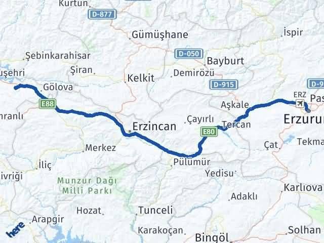 Erzurum Akıncılar Sivas Arası Kaç Km? - Kmhesaplama.com Arası Kaç Km Saat? Nerede Yol Haritası Yakıt, Rota ve Mesafe Hesaplama