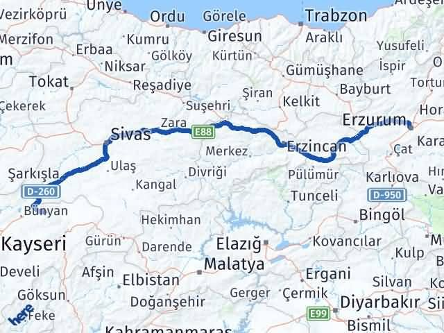 Erzurum Akkışla Kayseri Arası Kaç Km? - Kmhesaplama.com Arası Kaç Km Saat? Nerede Yol Haritası Yakıt, Rota ve Mesafe Hesaplama