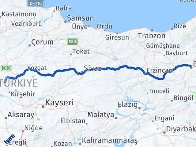 Erzurum Akpınar Kırşehir Arası Kaç Km? - Kmhesaplama.com Arası Kaç Km Saat? Nerede Yol Haritası Yakıt, Rota ve Mesafe Hesaplama