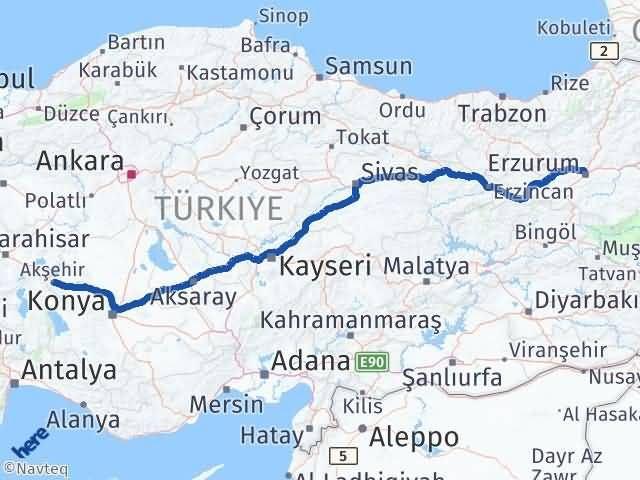 Erzurum Akşehir Konya Arası Kaç Km? - Kmhesaplama.com Arası Kaç Km Saat? Nerede Yol Haritası Yakıt, Rota ve Mesafe Hesaplama