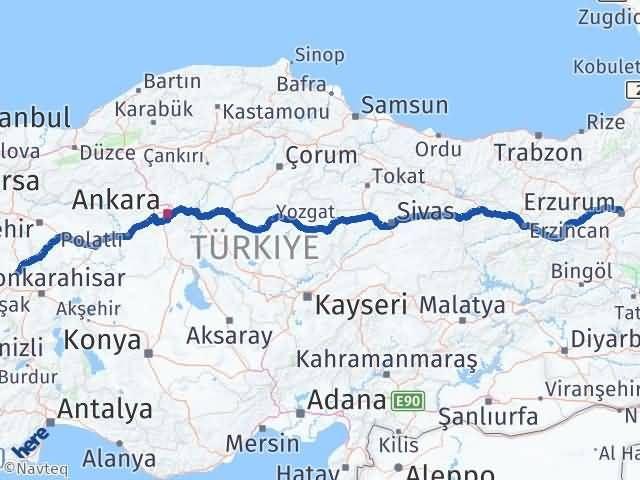 Erzurum Altıntaş Kütahya Arası Kaç Km? - Kmhesaplama.com Arası Kaç Km Saat? Nerede Yol Haritası Yakıt, Rota ve Mesafe Hesaplama