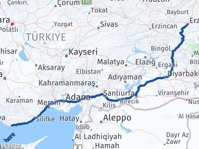 Erzurum Anamur Mersin Arası Kaç Km? - Kmhesaplama.com Arası Kaç Km Saat? Nerede Yol Haritası Yakıt, Rota ve Mesafe Hesaplama