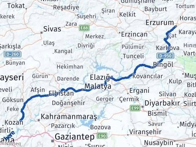 Erzurum Andırın Maraş Arası Kaç Km? - Kmhesaplama.com Arası Kaç Km Saat? Nerede Yol Haritası Yakıt, Rota ve Mesafe Hesaplama