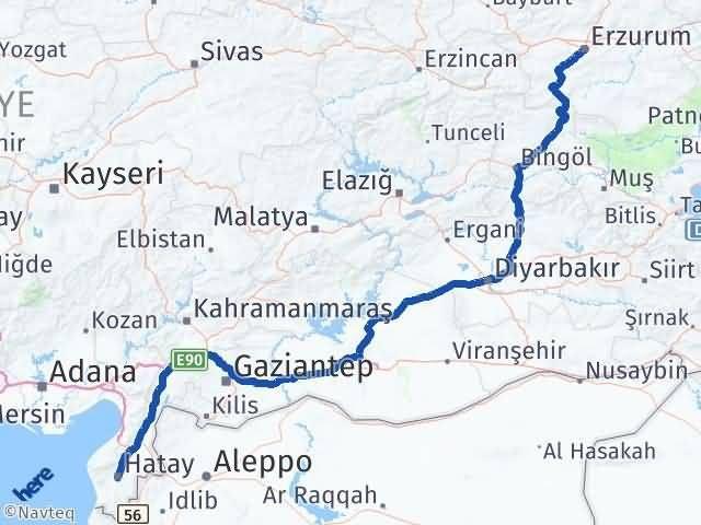 Erzurum Antakya Hatay Arası Kaç Km? - Kmhesaplama.com Arası Kaç Km Saat? Nerede Yol Haritası Yakıt, Rota ve Mesafe Hesaplama