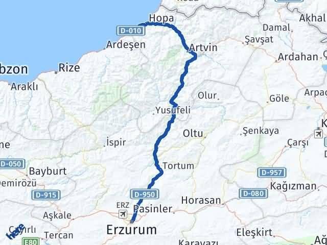 Erzurum Arhavi Artvin Arası Kaç Km? - Kmhesaplama.com Arası Kaç Km Saat? Nerede Yol Haritası Yakıt, Rota ve Mesafe Hesaplama