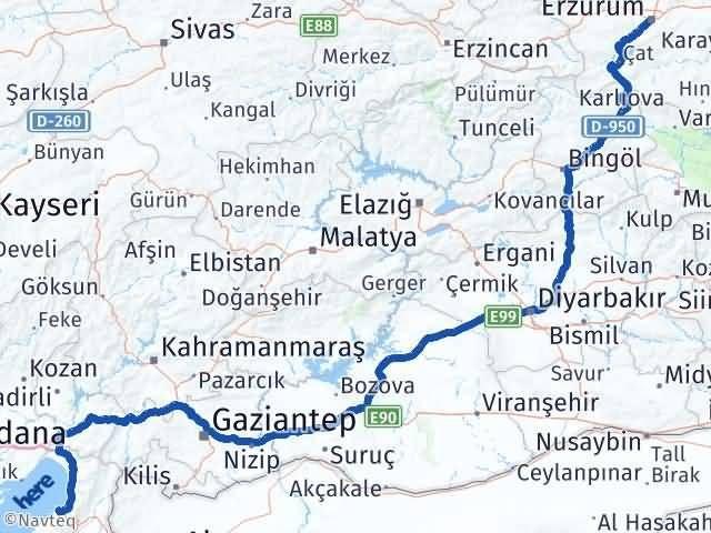 Erzurum Arsuz Hatay Arası Kaç Km? - Kmhesaplama.com Arası Kaç Km Saat? Nerede Yol Haritası Yakıt, Rota ve Mesafe Hesaplama