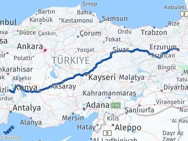 Erzurum Atabey Isparta Arası Kaç Km? - Kmhesaplama.com Arası Kaç Km Saat? Nerede Yol Haritası Yakıt, Rota ve Mesafe Hesaplama