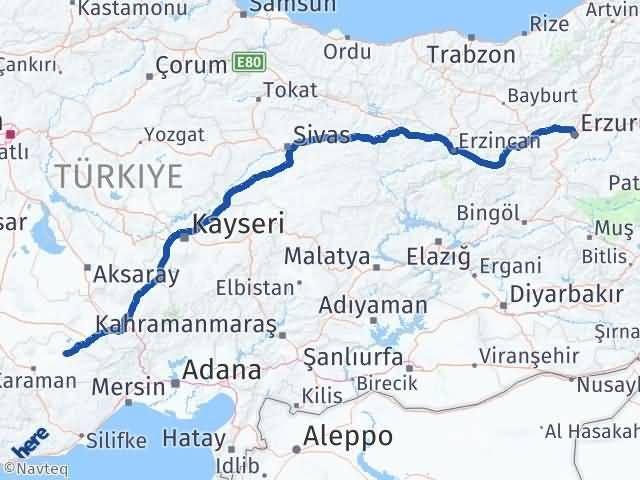 Erzurum Ayrancı Karaman Arası Kaç Km? - Kmhesaplama.com Arası Kaç Km Saat? Nerede Yol Haritası Yakıt, Rota ve Mesafe Hesaplama