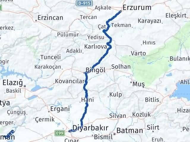 Erzurum Bağlar Diyarbakır Arası Kaç Km? - Kmhesaplama.com Arası Kaç Km Saat? Nerede Yol Haritası Yakıt, Rota ve Mesafe Hesaplama