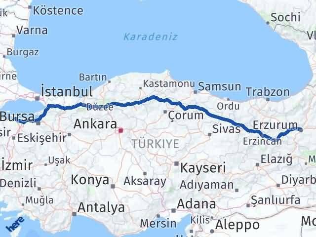 Erzurum Bandırma Balıkesir Arası Kaç Km? - Kmhesaplama.com Arası Kaç Km Saat? Nerede Yol Haritası Yakıt, Rota ve Mesafe Hesaplama