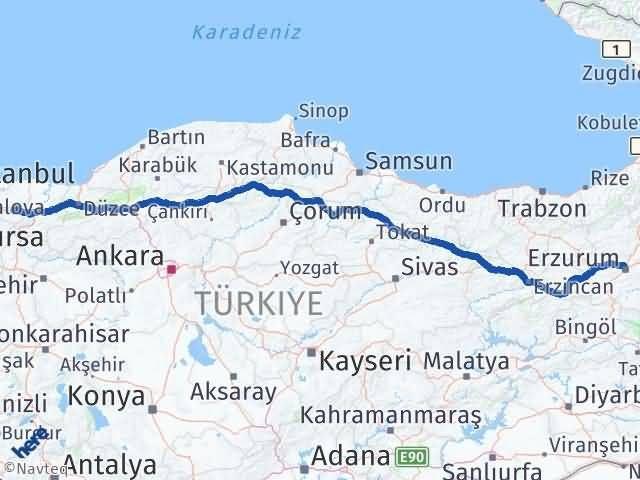 Erzurum Başiskele Kocaeli Arası Kaç Km? - Kmhesaplama.com Arası Kaç Km Saat? Nerede Yol Haritası Yakıt, Rota ve Mesafe Hesaplama