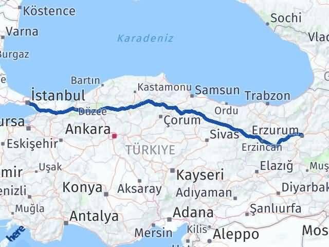 Erzurum Beyoğlu İstanbul Arası Kaç Km? - Kmhesaplama.com Arası Kaç Km Saat? Nerede Yol Haritası Yakıt, Rota ve Mesafe Hesaplama