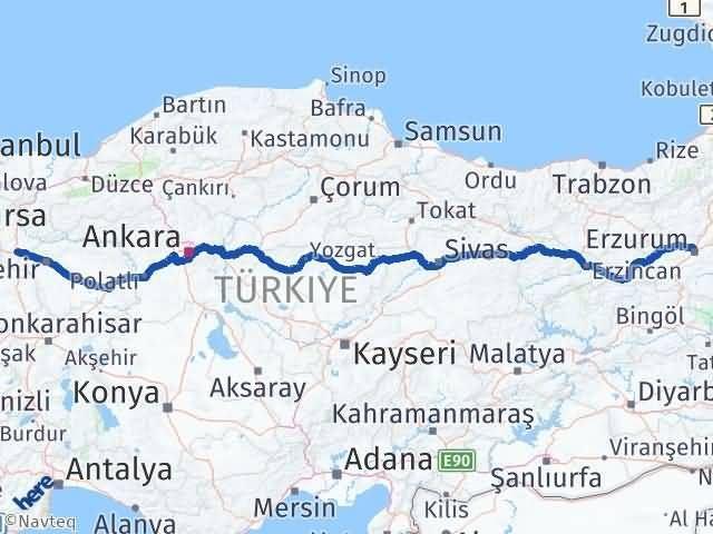Erzurum Bozüyük Bilecik Arası Kaç Km? - Kmhesaplama.com Arası Kaç Km Saat? Nerede Yol Haritası Yakıt, Rota ve Mesafe Hesaplama
