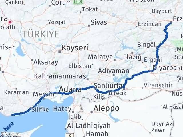 Erzurum Bozyazı Mersin Arası Kaç Km? - Kmhesaplama.com Arası Kaç Km Saat? Nerede Yol Haritası Yakıt, Rota ve Mesafe Hesaplama