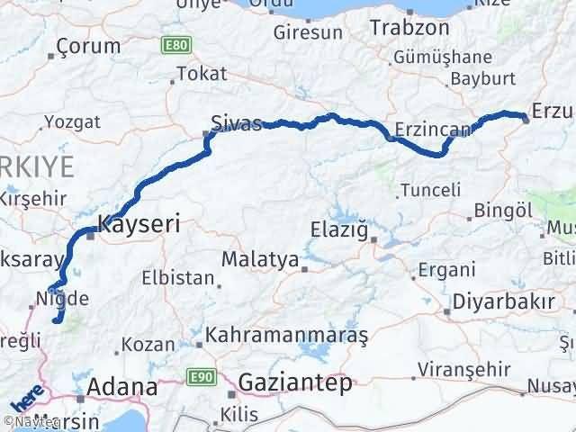 Erzurum Çamardı Niğde Arası Kaç Km? - Kmhesaplama.com Arası Kaç Km Saat? Nerede Yol Haritası Yakıt, Rota ve Mesafe Hesaplama