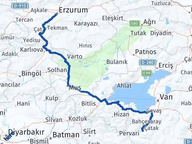 Erzurum Çatak Van Arası Kaç Km? - Kmhesaplama.com Arası Kaç Km Saat? Nerede Yol Haritası Yakıt, Rota ve Mesafe Hesaplama