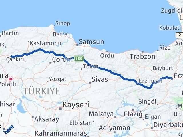 Erzurum Çerkeş Çankırı Arası Kaç Km? - Kmhesaplama.com Arası Kaç Km Saat? Nerede Yol Haritası Yakıt, Rota ve Mesafe Hesaplama