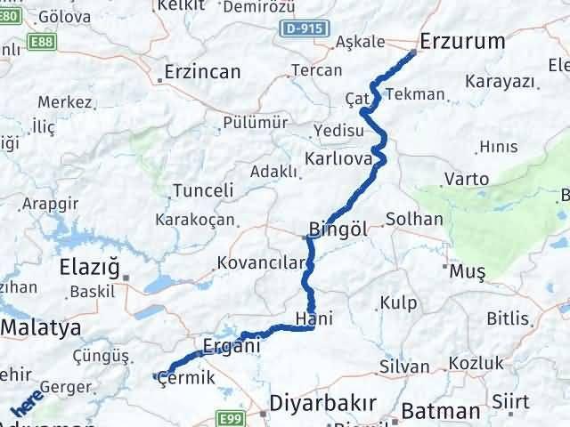 Erzurum Çermik Diyarbakır Arası Kaç Km? - Kmhesaplama.com Arası Kaç Km Saat? Nerede Yol Haritası Yakıt, Rota ve Mesafe Hesaplama