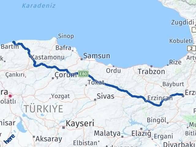 Erzurum Cide Kastamonu Arası Kaç Km? - Kmhesaplama.com Arası Kaç Km Saat? Nerede Yol Haritası Yakıt, Rota ve Mesafe Hesaplama