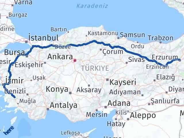 Erzurum Çine Aydın Arası Kaç Km? - Kmhesaplama.com Arası Kaç Km Saat? Nerede Yol Haritası Yakıt, Rota ve Mesafe Hesaplama